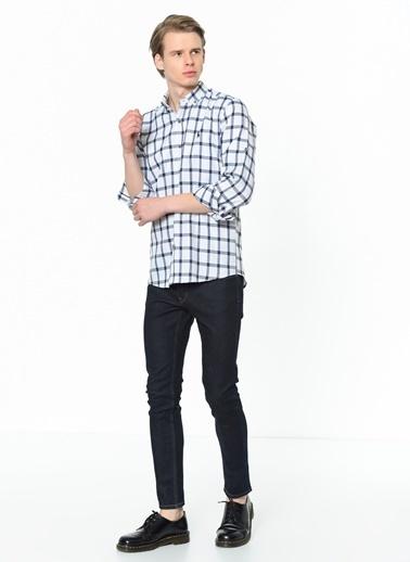 Dewberry Shirt Neck Uzun Kol Pamuklu Erkek Gömlek Lacivert